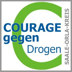 Courage gegen Drogen im Saale-Orla-Kreis - Logo