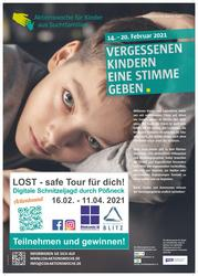 Plakat SOK Aktionswoche_Lost safe tour in Pößneck