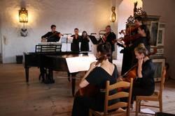 BachWoche 2021 - Saale-Orla-Solisten musizieren im Rittersaal auf Schloss Burgk