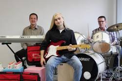 Haysam Ibrahim (von links), Marwin Braun und Peter Guttmann verstärken ab sofort das Team der Musikschule Saale-Orla in Bad Lobenstein.