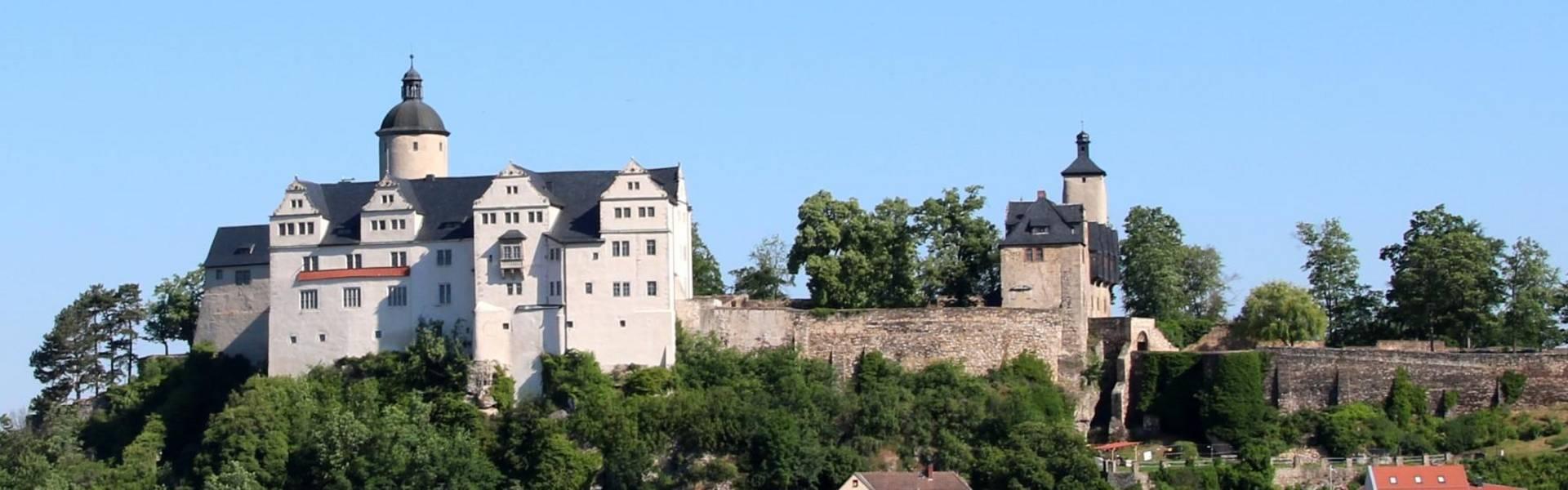 Blick auf die Burg Ranis ©Landratsamt Saale-Orla-Kreis, Pressestelle