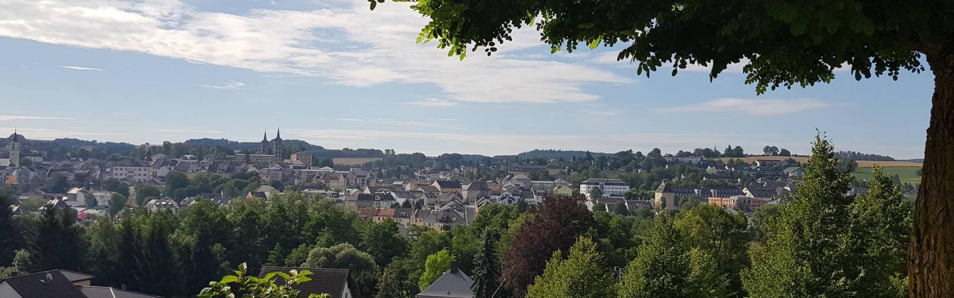 Blick auf die Stadt Schleiz von der Bergkirche aus ©Landratsamt Saale-Orla-Kreis, Pressestelle