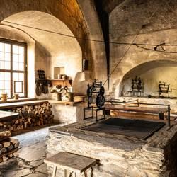 Schlossküche auf Schloss Burgk