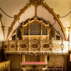 Silbermann-Orgel auf Schloss Burgk