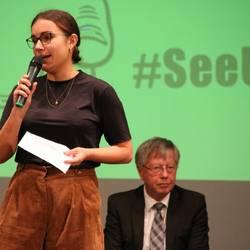 Auftaktveranstaltung zur Gründung eines Jugendparlaments in Schleiz, Diskussion im Podium
