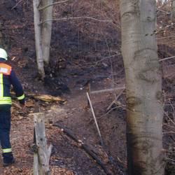 Einsatz beim Großbrand am Heinrichstein Ostern 2019