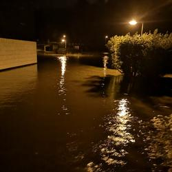 Fotos von Unwetter/Starkregen im Bereich Hirschberg am 13. Juli 2021
