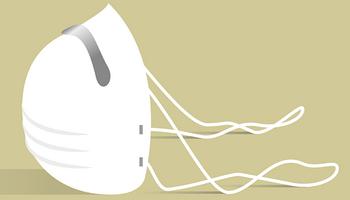 Illustration Thema Corona - Mund-Nasen-Schutz-Maske