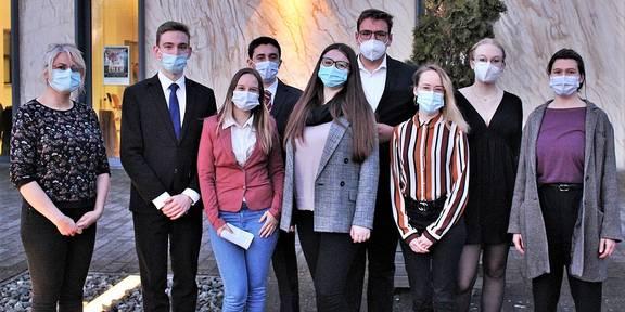Mitglieder des Jugendparlaments des Saale-Orla-Kreises