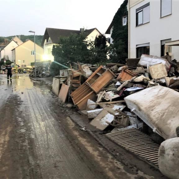 Foto-Eindrücke der Neustädter Einsatzkräfte aus der Großschadensregion Ahrweiler in Rheinland-Pfalz